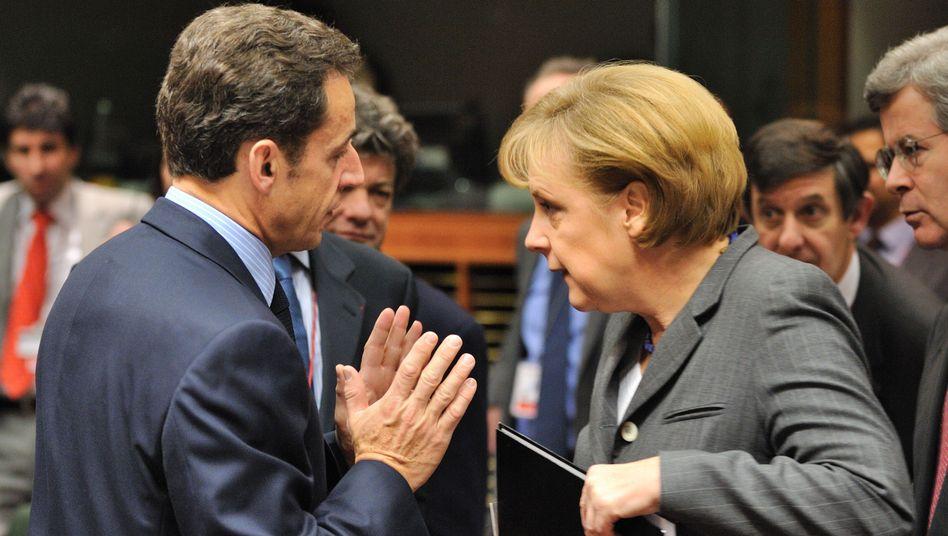 """Merkel, Sarkozy: """"Das sehe ich nicht so"""""""