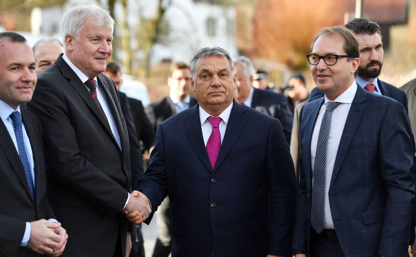 CSU/ Horst Seehofer/ Alexander Dobrindt / Viktor Orban
