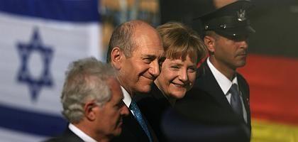 Merkel und Olmert (März 2008): Der Schutz Israels ist Staatsraison