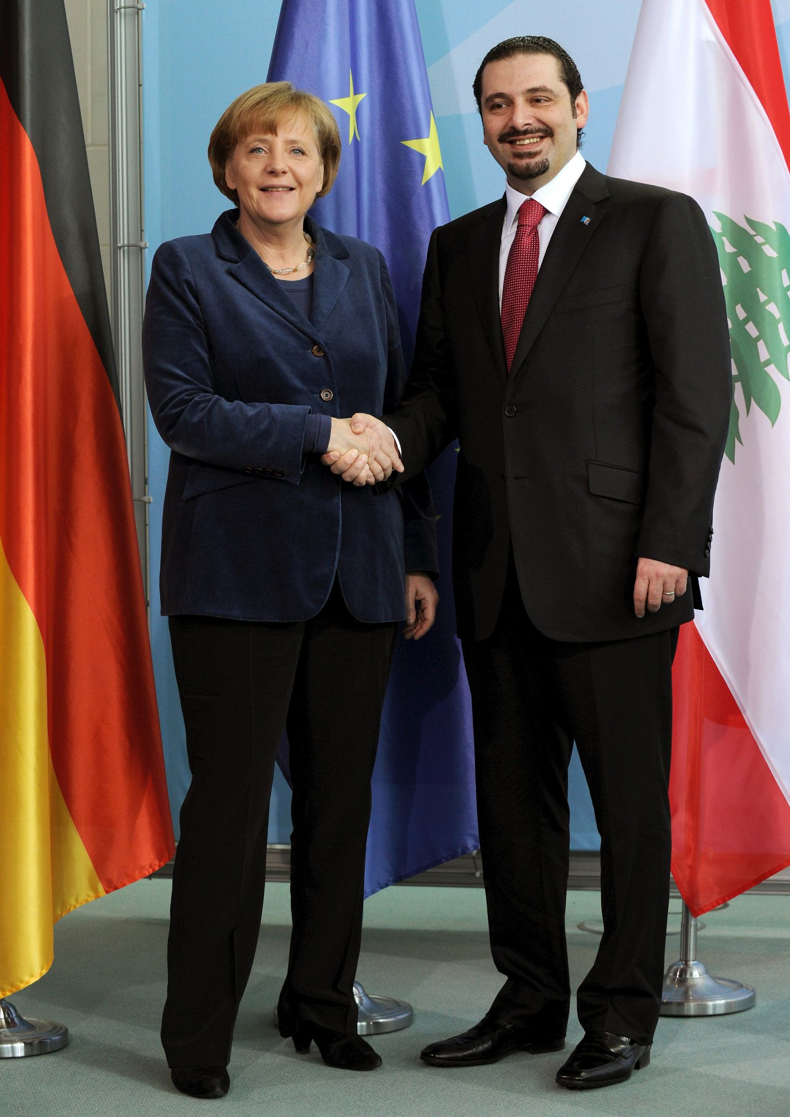 Angela Merkel und Saad Rafik Hariri