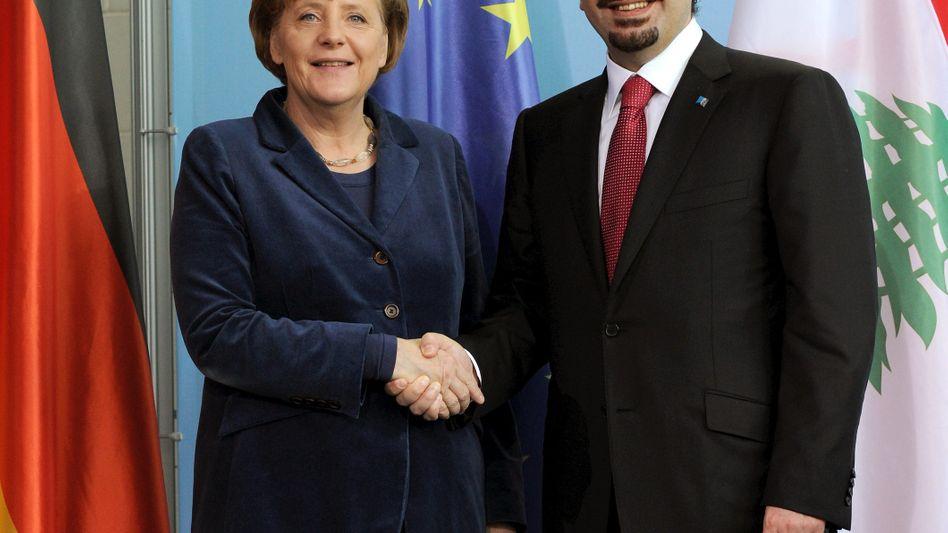 Kanzlerin Merkel und Libanons Ministerpräsident Hariri: Gespräche über Israel und Iran