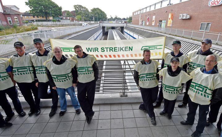 Warnstreik von Lokführern im Juni 2014 in Schleswig-Holstein