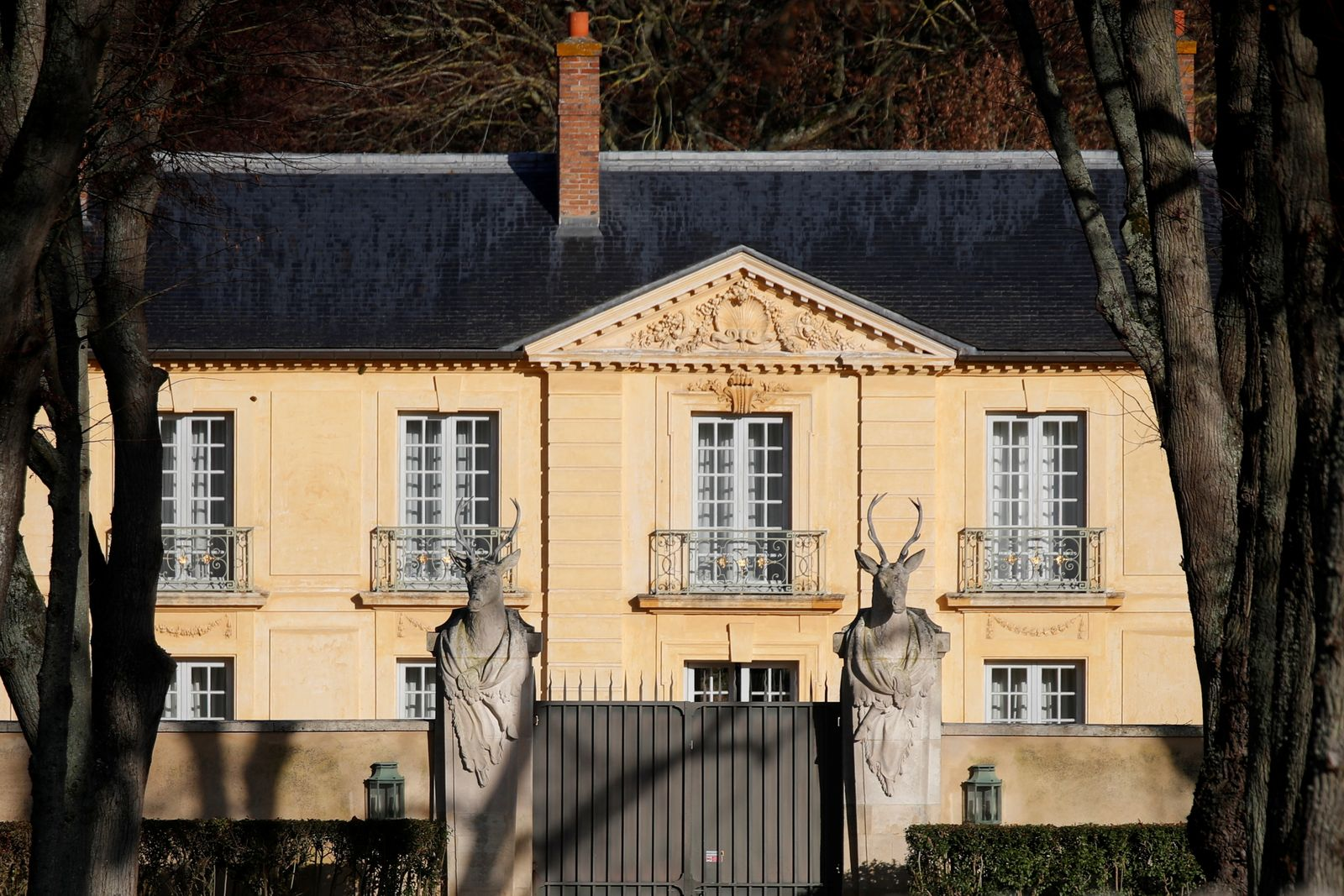 French President Macron into quarantine at the presidential retreat of La Lanterne in Versailles
