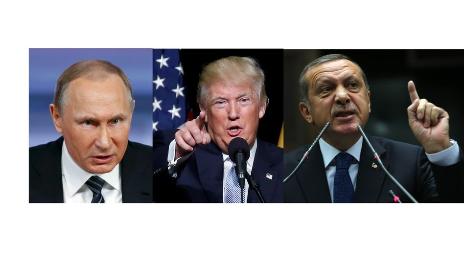 The faces of the future? Putin, Trump and Erdogan