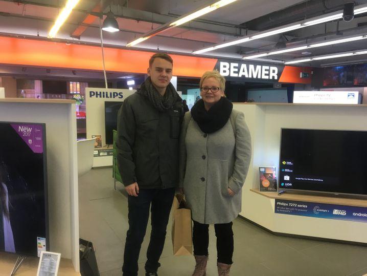 Simone Reimann und ihr Sohn