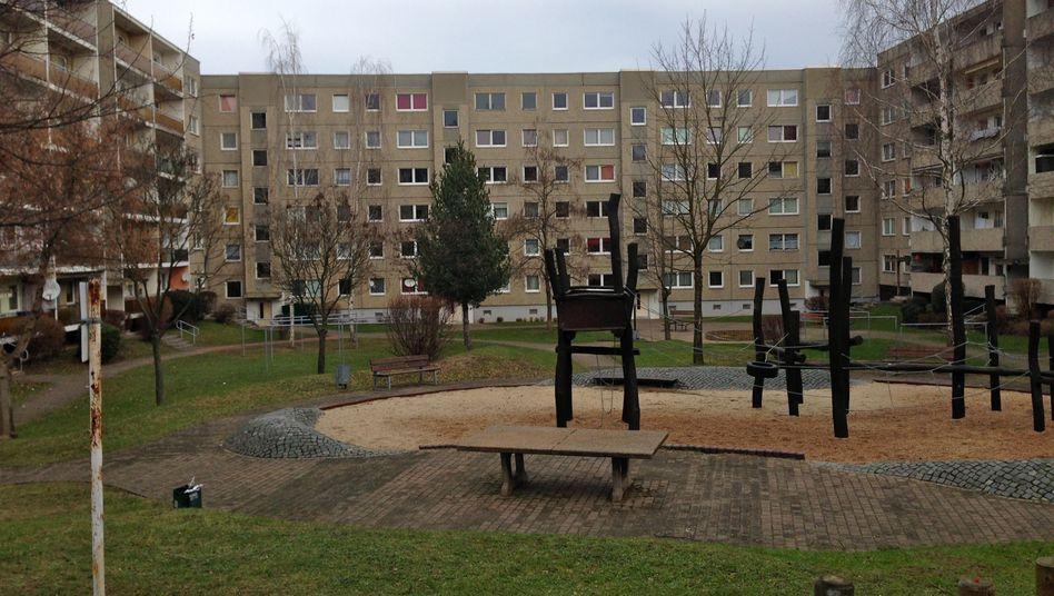 Plattenbausiedlung im Stadtteil Lebnitz-Neuostra: Hier war die Leiche von Khaled B. gefunden worden