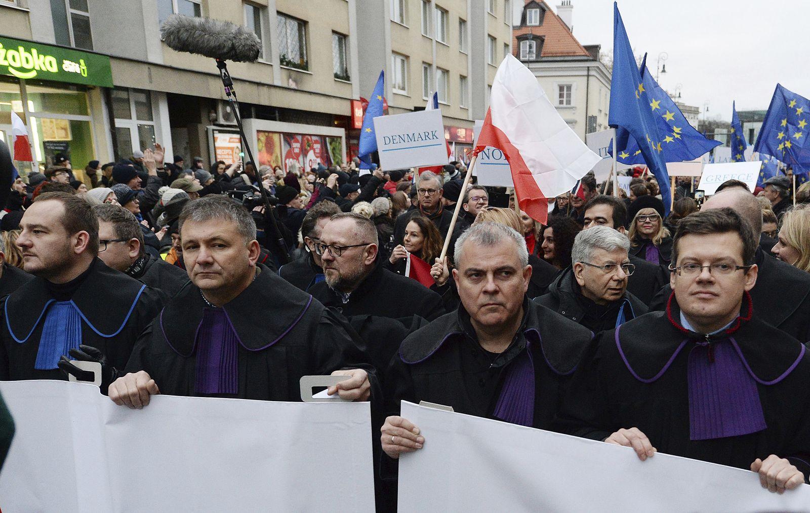 Solidaritätskundgebung für polnische Richter