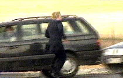 Geschafft: Die 39-jährige Geisel Ute B. konnte in Piaski fliehen