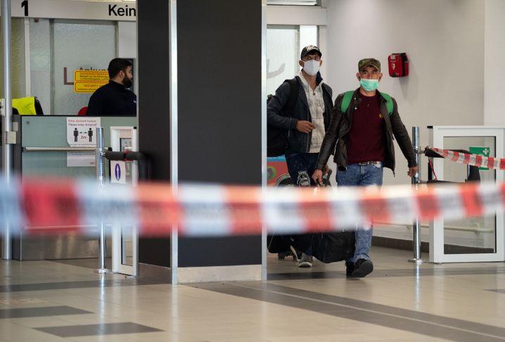 Erste Erntehelfer aus Rumänien in Deutschland angekommen ROUNDUP