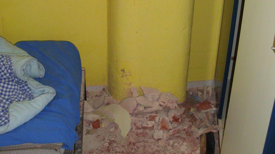 Spuren eines Fluchtversuchs: Häftlinge scheitern an Beton