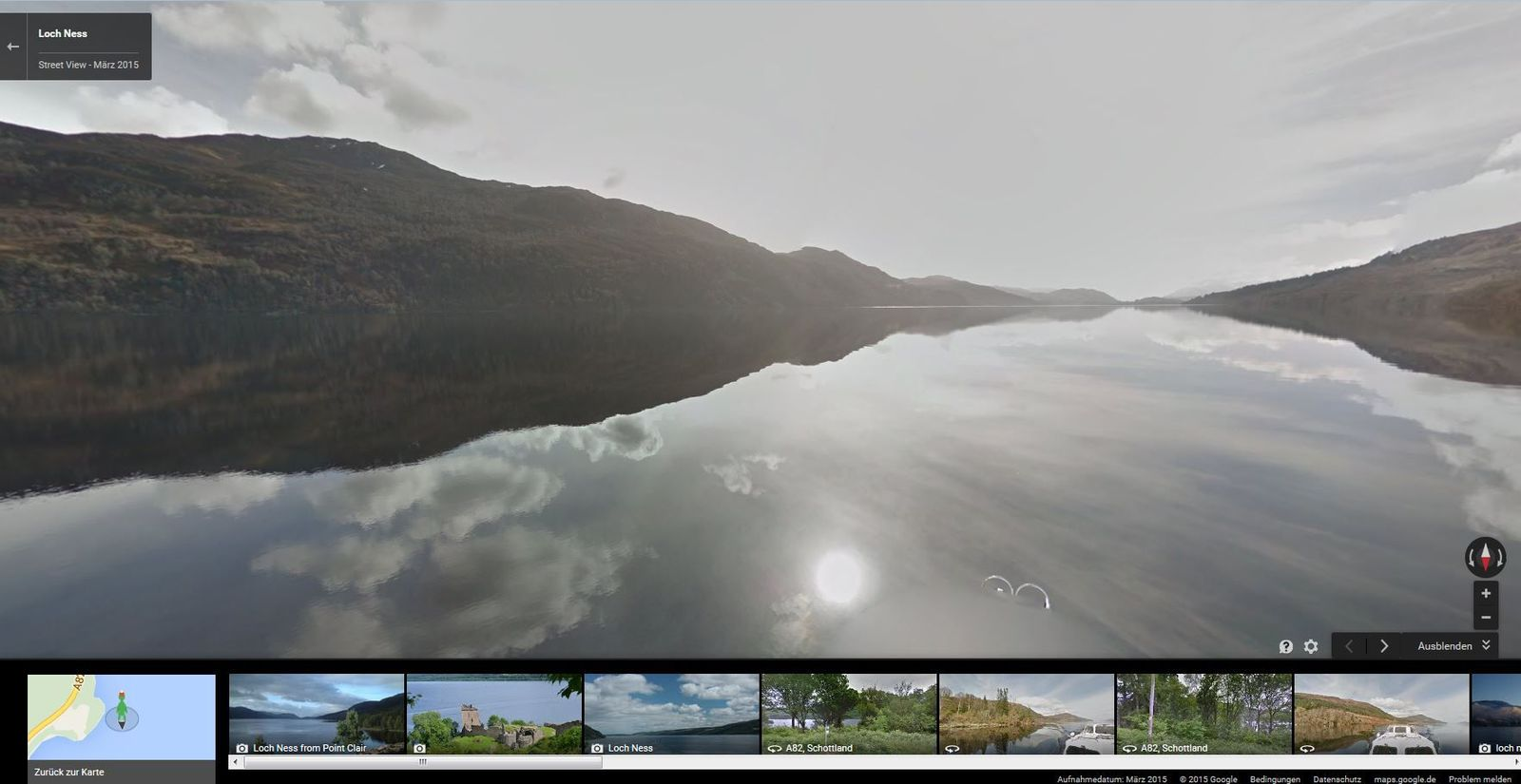Angeklickt/ Mit Google Street View auf der Suche nach Nessie