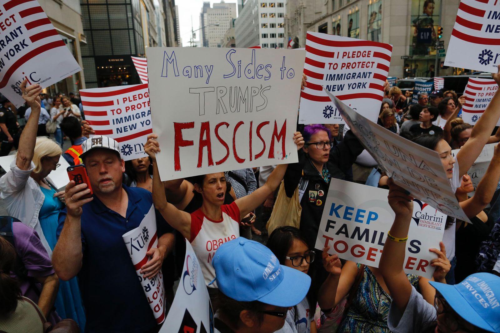 Anti-Trump Demonstration/ New York