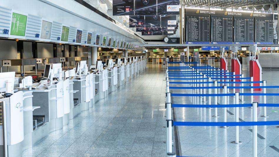 Flughafen Frankfurt: Die Passagierzahlen sind eingebrochen