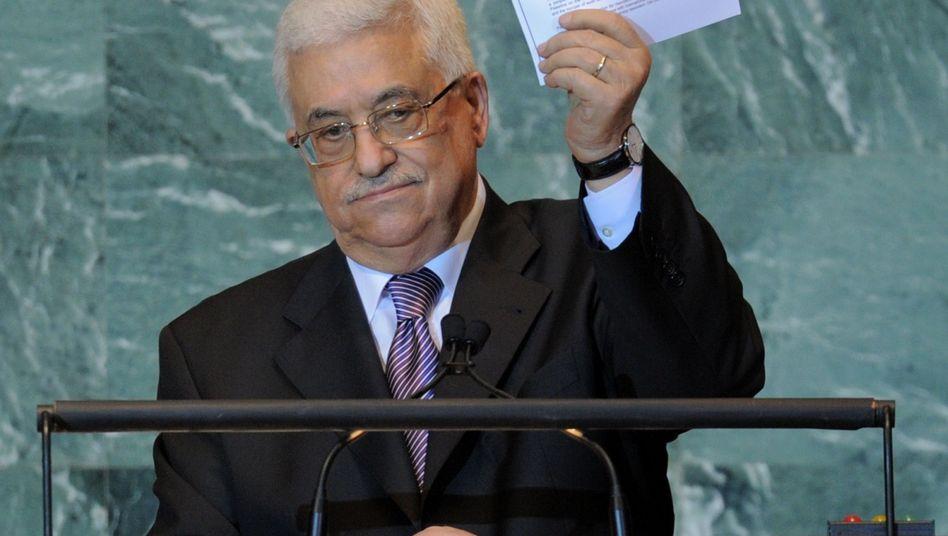 Palästinenserpräsident Abbas vor der Uno (im September 2011): Antrag auf neuen Status