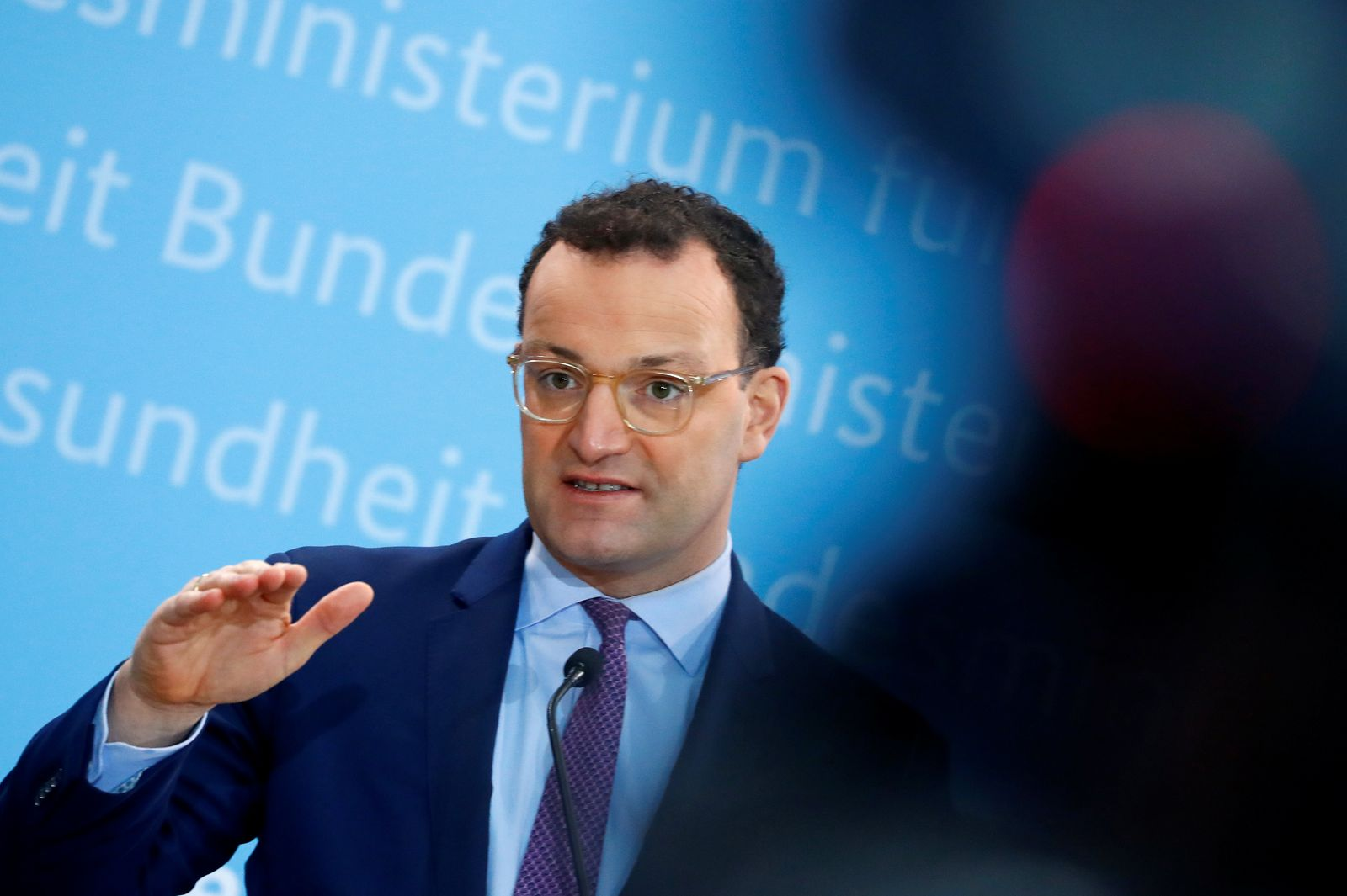 German Health Minister Spahn holds news conference in Berlin