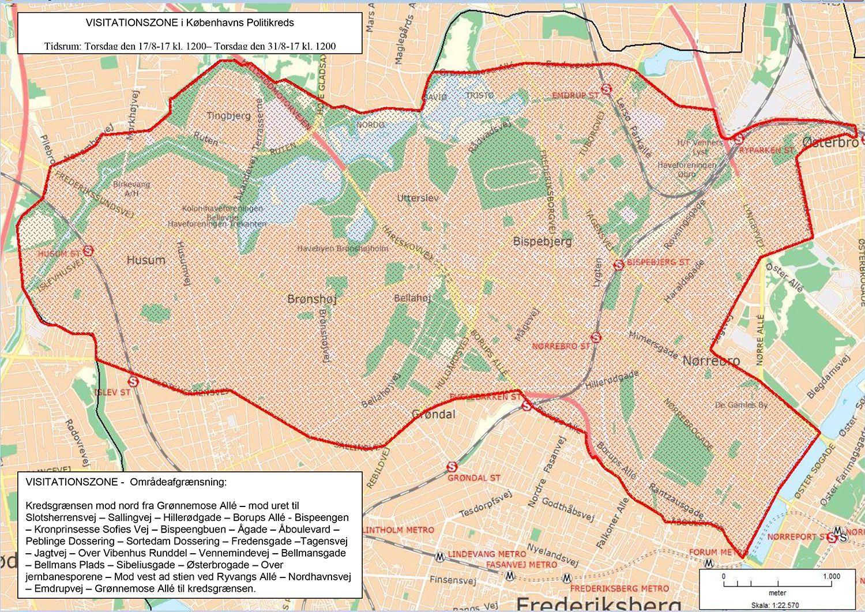 EINMALIGE VERWENDUNG Bandenkriminalitt in Kopenhagen / Karte / Kopenhagen Nørrebro