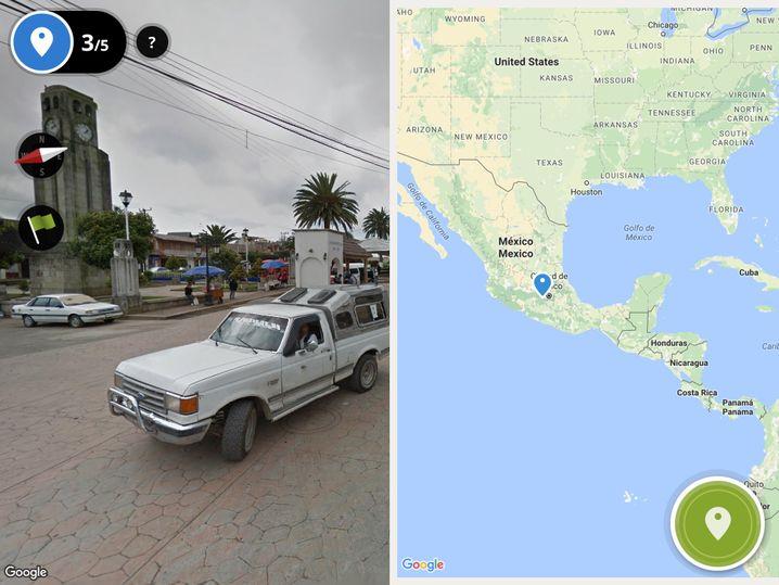 Der Screenshot zeigt eine Straße in Mexiko: Hätten Sie's gewusst?