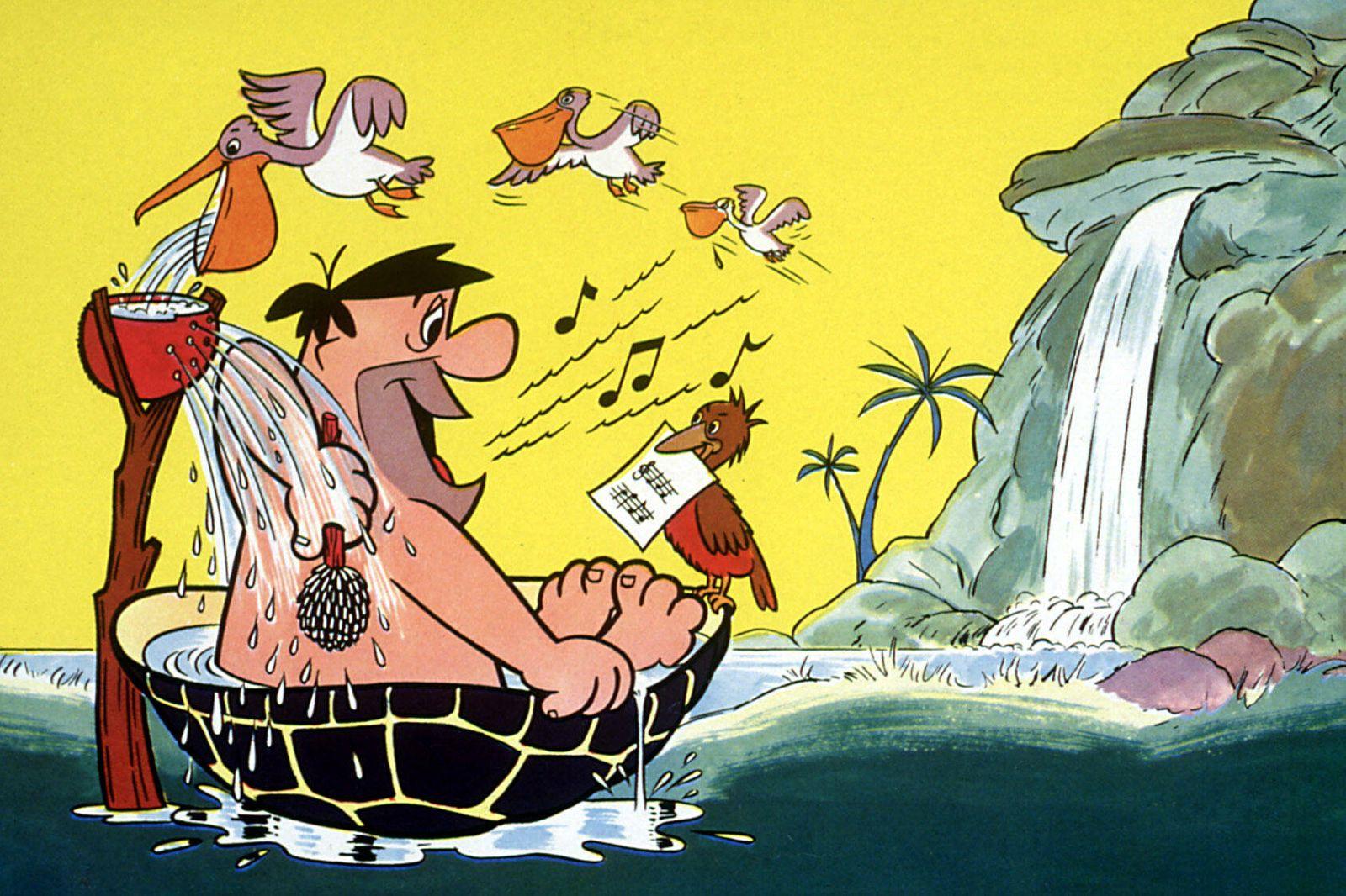 FLINTSTONES, Fred Flintstone, 1960-1966, bathtub Courtesy Everett Collection !ACHTUNG AUFNAHMEDATUM GESCHÄTZT! PUBLICATI