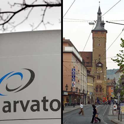 Arvato-Logo in der Würzburger Innenstadt: Der Bürger soll König werden