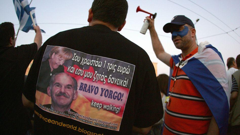 Proteste in Athen: Totengräber in Schwarz-Rot-Gold?