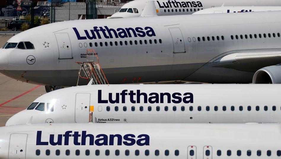 Lufthansa-Maschinen in Frankfurt: Nur wenig ausgelastet