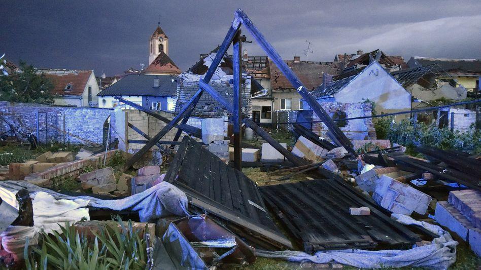 Schäden nach Sturm in Tschechien