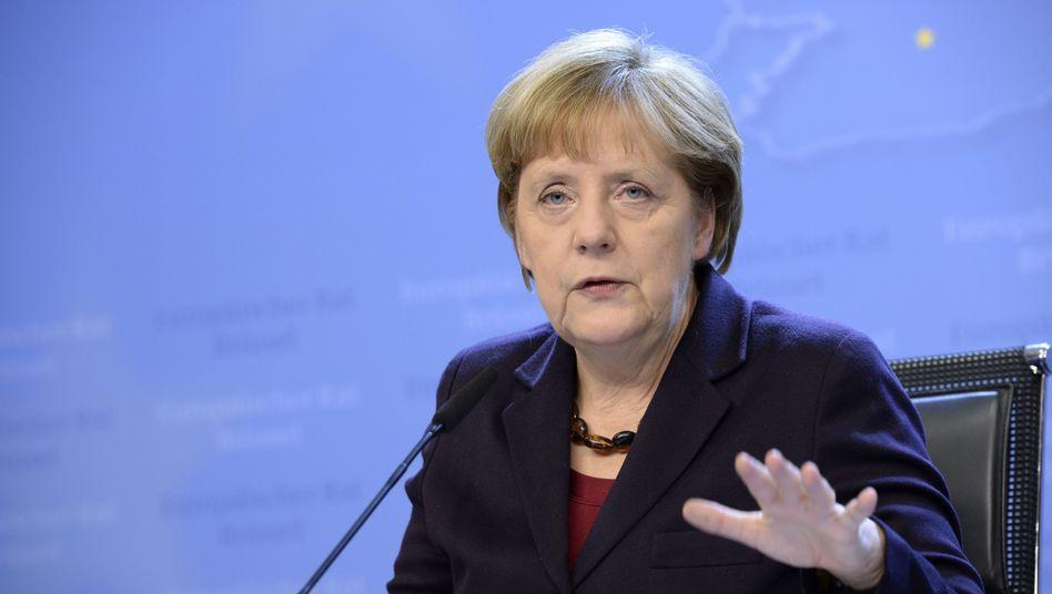 Angela Merkel auf dem EU-Gipfel: Sanktionen gegen Russland bleiben bestehen
