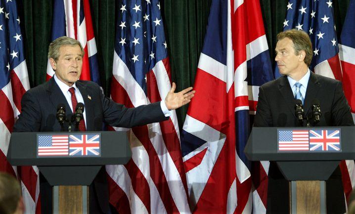 George W. Bush, Tony Blair (2003)