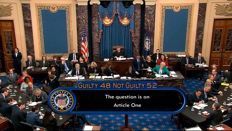 """""""Not guilty"""": Der US-Senat bei der Abstimmung über Trumps Amtsenthebung"""