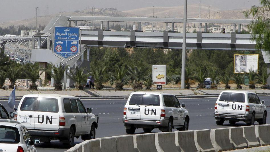"""Uno-Konvoi in Syrien: """"Sehr angespannte Sicherheitslage"""""""