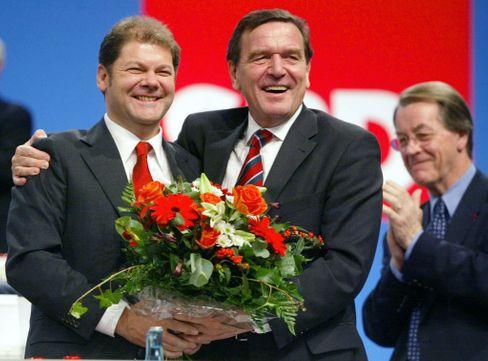 Schröders General: Scholz bei seiner Wahl zum SPD-Generalsekretär im Oktober 2002