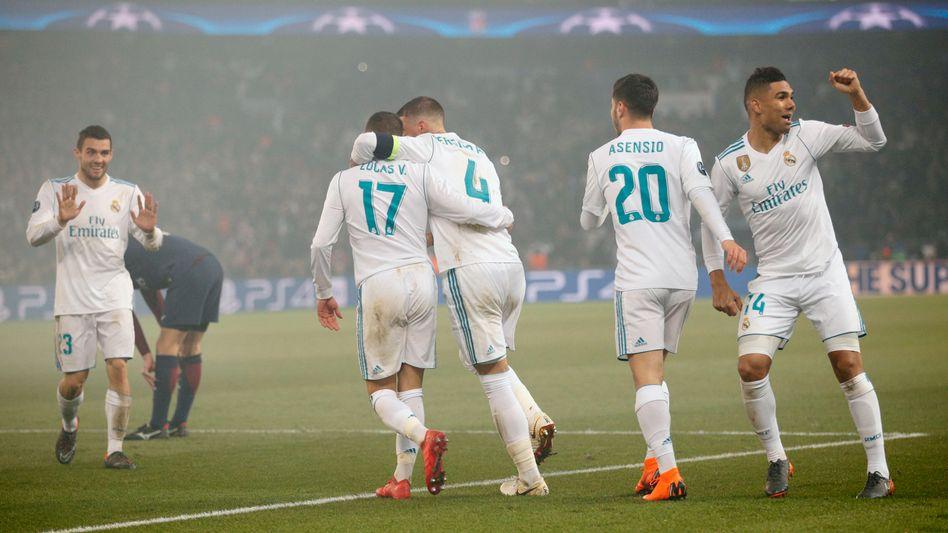 Real-Madrid-Spieler jubeln