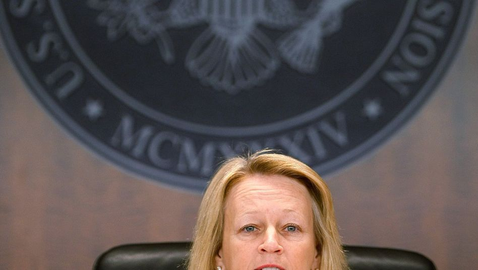 SEC-Chefin Mary Schapiro: Unangenehme Post eines Kongressabgeordneten