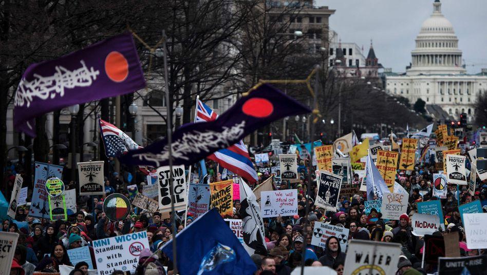 Proteste gegen die Keystone-Pipeline in Washington