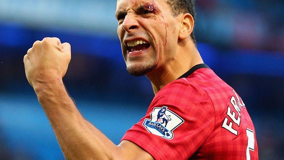 Manchester-Verteidiger Ferdinand: Von einem Fan mit einer Münze beworfen