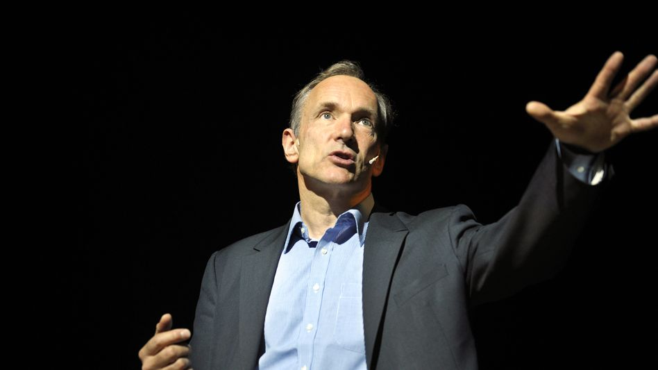 """Tim Berners-Lee: """"There is a strong tendency for governments, big organizations and companies to try to control the Web."""""""