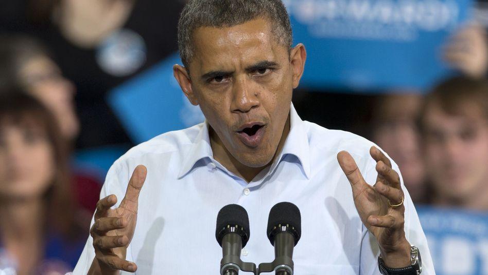 Im Endspurt: Barack Obama bei einem Auftritt in Ohio