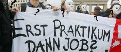 Protest der Generation Praktikum (2006 in Berlin): Der Eltern-Airbag hilft