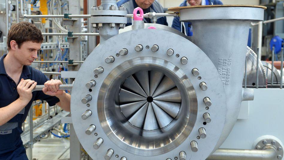 Siemens-Mitarbeiter in Leipzig: In der Exportwirtschaft herrscht Verunsicherung