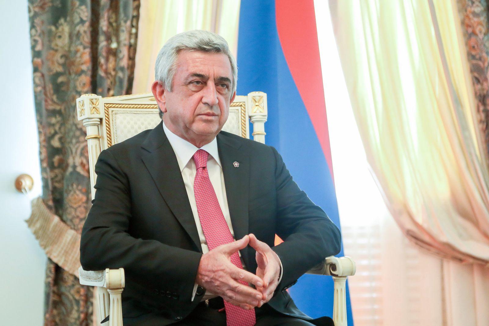 Armenischer Präsident Sersch Sargsjan