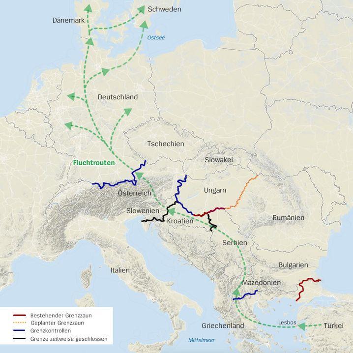 Fluchtroute: Der Weg nach Deutschland - und noch weiter