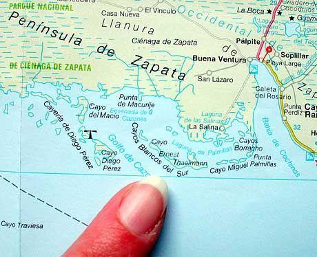 Auf der Karte kaum zu finden: Cayo Ernest Thaelmann