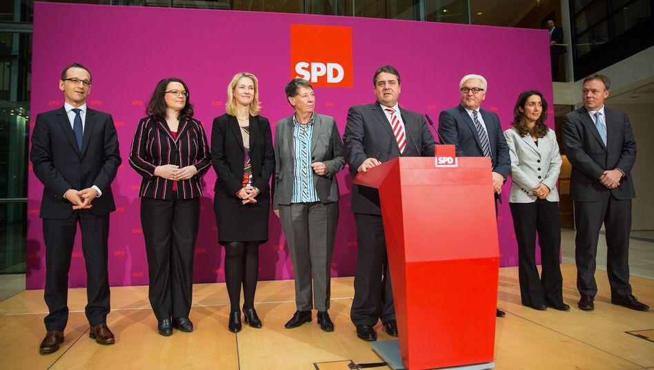 SPD-Kabinettsmitglieder, Fraktionschef Oppermann: Treu geliefert