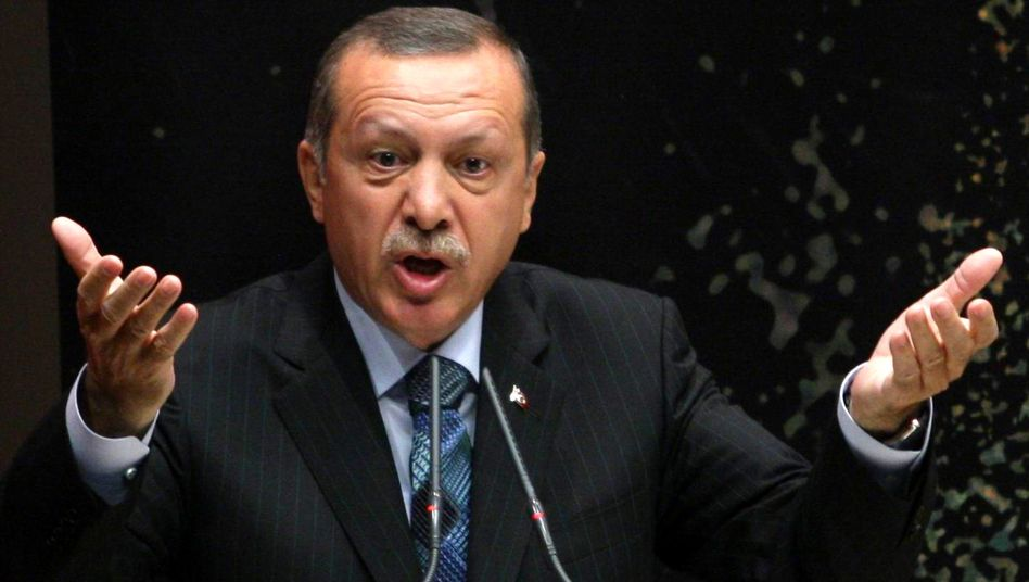 """Turkish Prime Minister Erdogan: """"How do you get to talk about democracy, global values human rights?"""""""
