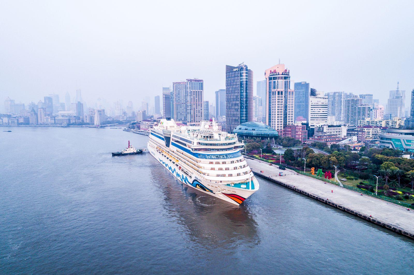 AIDAbella in Shanghai