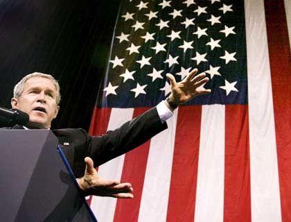 Kein Erbarmen mit Terroristen - noch nicht einmal mit Verdächtigten: US-Präsident Bush