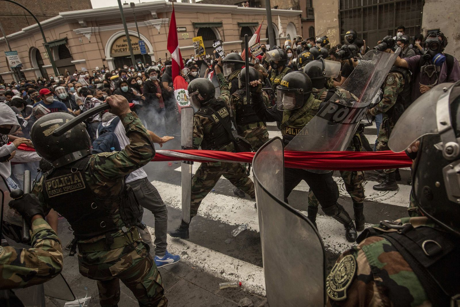 Day of protests in Lima against the new President of Peru and the departure of Vizcarra - 10 Nov 2020