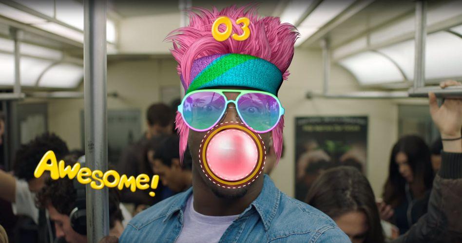 Screenshot aus einem Snappable-Werbevideo