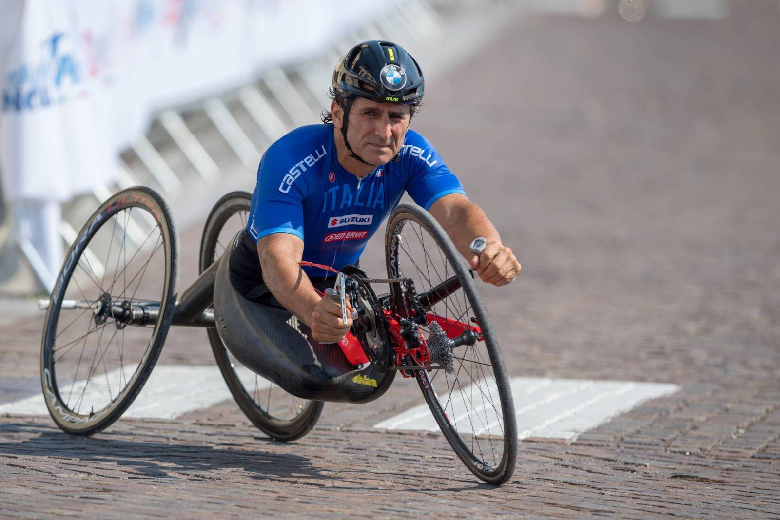UCI Para Cycling Road World Championships 2018 - August 1, 2018 MANIAGO, ITALY - AUGUST 01: Alex Zanardi (ITA) at Day 0