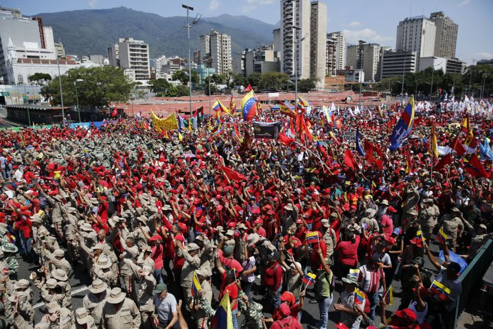 Maduro-Anhänger in Caracas